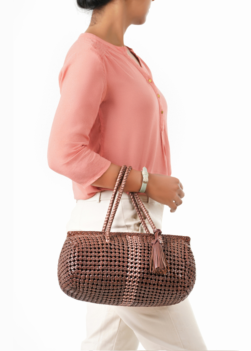 handwoven leather bags
